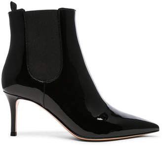 Gianvito Rossi Patent Leather Evan Stiletto Ankle Boots
