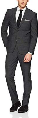 DKNY Men's Donahue Slim Fit Single Breast 2 Button Suit