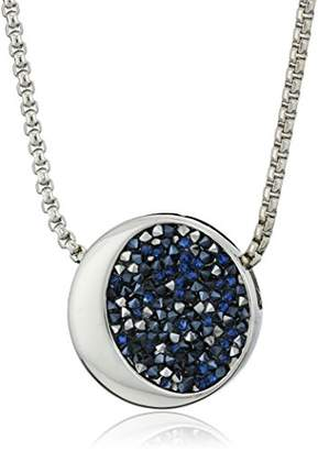 Kenneth Cole New York Silver and Sprinkle Stone Pendant Necklace