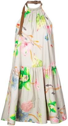 Tibi floral print halterneck dress