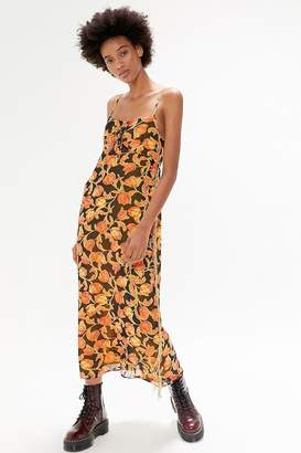 Urban Outfitters Talia Beaded Chiffon Maxi Dress