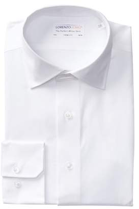 Lorenzo Uomo Royal Oxford Stretch Trim Fit Dress Shirt