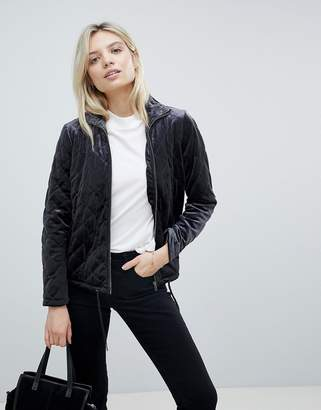 B.young Velvet Quilted Jacket