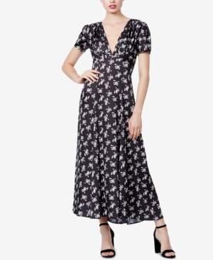 Betsey Johnson Bow-Print A-Line Maxi Dress