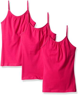 Hanes Little Girls' Cami with Shelf Bra (Pack of 3)