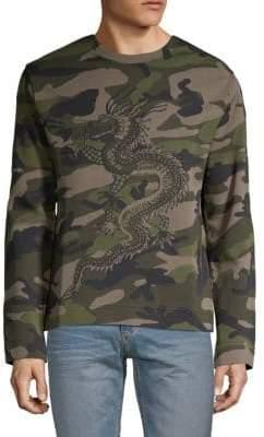 Valentino Maglia Dragon Camo Sweater