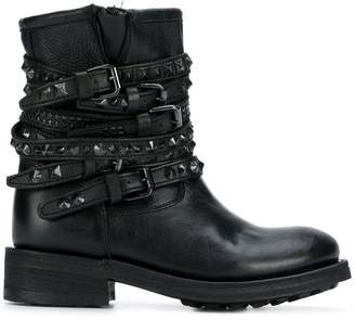 Ash buckled strap boots