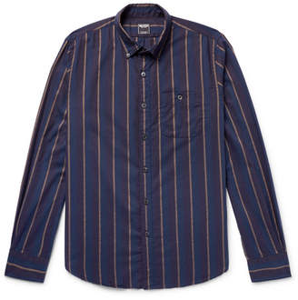 Todd Snyder Button-Down Collar Striped Cotton-Flannel Shirt