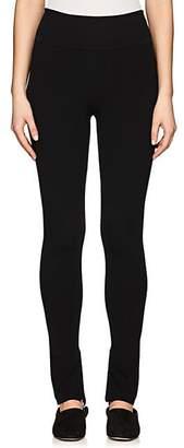 The Row Women's Ablene Rib-Knit Wool-Blend Leggings - Black