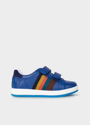 Boys' Sizes UK7-UK9 Blue Leather Strap 'Rabbit' Trainers
