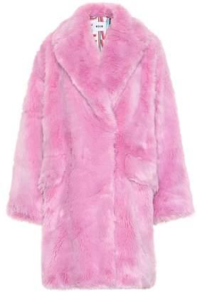 MSGM Faux fur coat