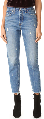 Levi's Wedgie Icon Jeans $158 thestylecure.com
