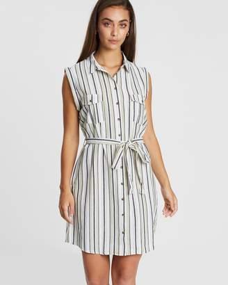 Cotton On Woven Tilly Sleeveless Shirt Dress