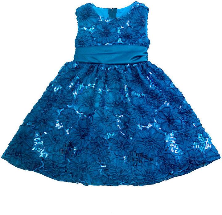 Rare Editions Girls Dress, Little Girls Soutache Dress