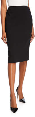Ralph Lauren Cindy Wool Crepe Pencil Skirt