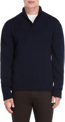 Peuterey Navy Oversized Heavy Knit Sweater