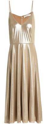 Halston Metallic Crepe Dress