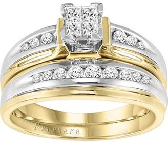 Keepsake Faedra 1/2 Carat T.W. Certified Diamond 14kt True Two-Tone Gold Bridal Set