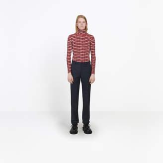 Balenciaga Wool mix twill tailored pants