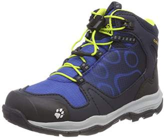 Jack Wolfskin Boys' Akka Texapore Mid B Wasserdicht High Rise Hiking Shoes, (Vibrant Blue)