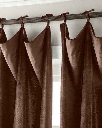 """Parker 6009 132""""L Tie-Top Velvet Curtain"""