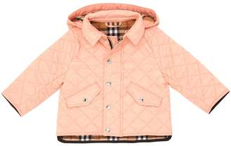 Burberry Hooded Quilted Down Jacket