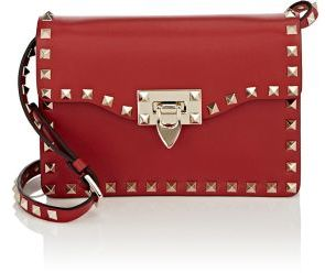 Valentino Women's Rockstud Small Crossbody Bag-RED $1,295 thestylecure.com