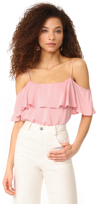 BB Dakota Delafield Ruffle Top $65 thestylecure.com