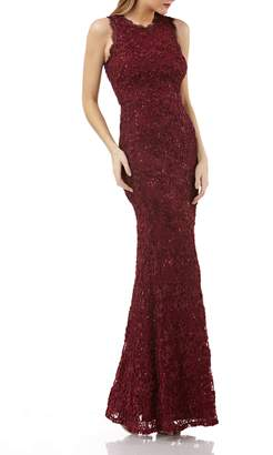 JS Collections Sequin Lace Gown