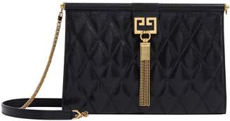 Givenchy Leather Pocket Clutch Bag