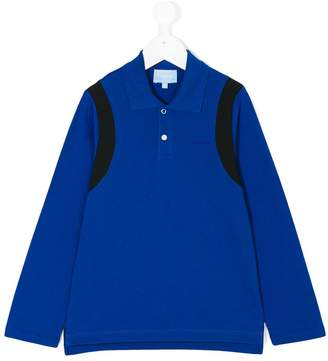 Lanvin Enfant contrast-trim long sleeved polo shirt