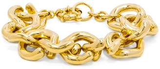 Gold Mary Links Bracelet $32 thestylecure.com