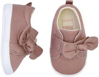 Carter's Baby Girl Bow Sneaker Crib Shoes