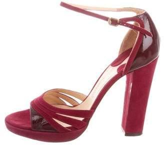 Chloé Suede Ankle Strap Sandals