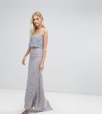 Jarlo All Over Lace Bandeau Maxi Dress