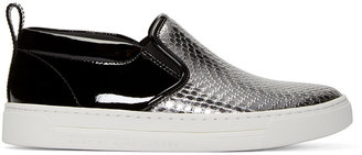 Marc by Marc Jacobs Black & Silver Leather Broome Sneakers $280 thestylecure.com