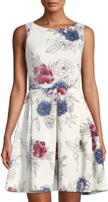 Taylor Sleeveless Floral Fit & Flare Dress