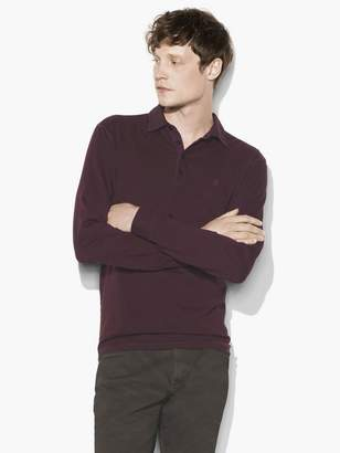 John Varvatos Long Sleeve Peace Polo