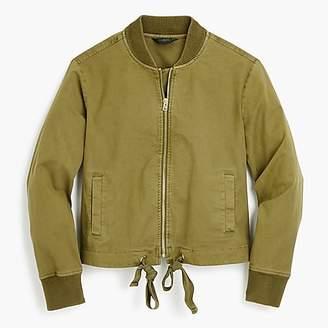 J.Crew Garment-dyed bomber jacket