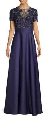 Escada Glleras Beaded Bodice A-Line Gown