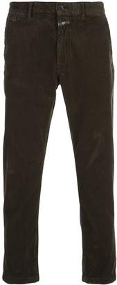 Closed straight-leg corduroy trousers