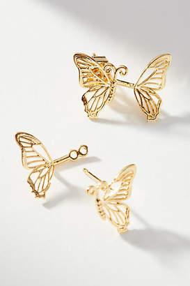 Anthropologie Butterfly Front-Back Earrings
