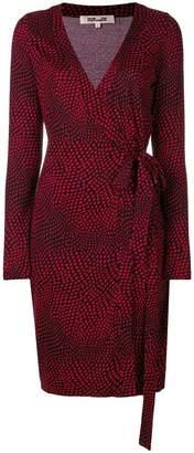 Diane von Furstenberg dotted print wrap dress