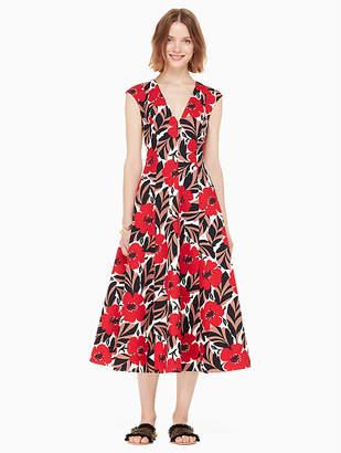Kate Spade Poppy Field Structured Dress