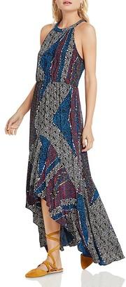 BCBGeneration Patchwork-Print High/Low Dress $128 thestylecure.com