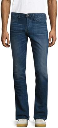 3x1 Men's M3 Selvedge Distressed Slim Fit Jeans