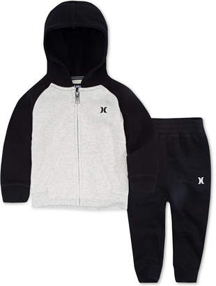 Hurley Toddler Boys 2-Pc. Hoodie & Joggers Set