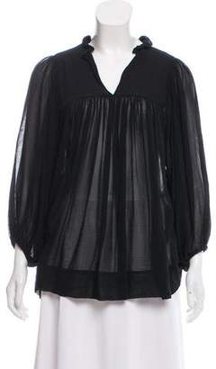 Derek Lam Chiffon Empire Blouse