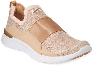APL Athletic Propulsion Labs APL: Athletic Propulsion Labs Techloom Bliss Metallic Knit Slip-On Running Sneakers