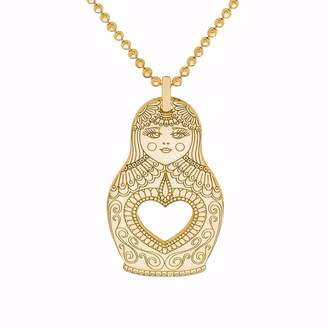 CarterGore - Gold Russian Doll Pendant Necklace